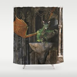 Dragon's Den Shower Curtain
