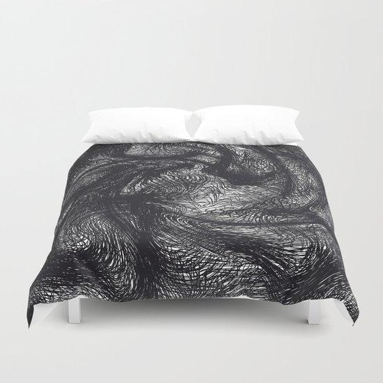 furry swirl Duvet Cover
