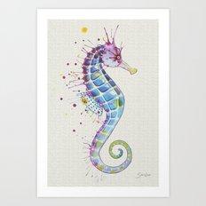 Seahorse : Purple I Art Print