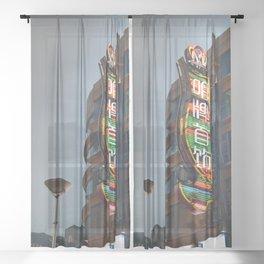 Shanghai 七 Sheer Curtain