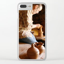 Potter working Clear iPhone Case