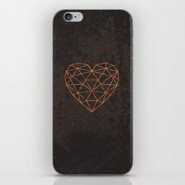 COPPER HEART iPhone Skin