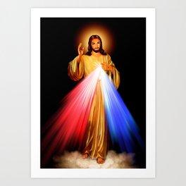 Jesus Divine Mercy I trust in you Religion Religious Catholic Christmas Gift Art Print
