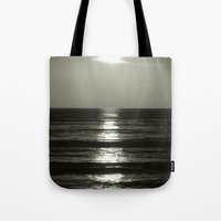 abyss Tote Bags featuring Abyss by Monica Ortel ❖