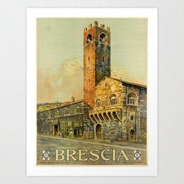 brescia  oude poster Art Print