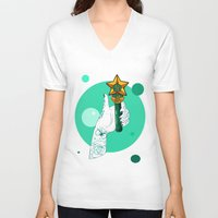 sailor jupiter V-neck T-shirts featuring Jupiter by scoobtoobins