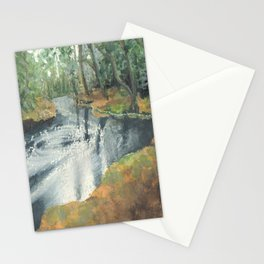 Watercolor Vortex Stationery Cards