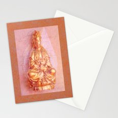 Rose-Bronze Kwan Yin Stationery Cards