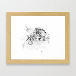 AEnima // Astrological Symbols Framed Art Print