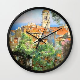Near Menton - Digital Remastered Edition Wall Clock