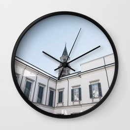 Inside palazzo reale in Milan Wall Clock