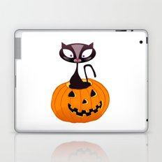 BOOOO -  Halloween Pumpkin Cat Laptop & iPad Skin