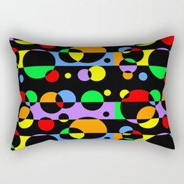 Rainbow Geometric Multicolored Modern Circle Pattern Rectangular Pillow