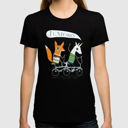 Junicorn and Fausto Fox Biking Tee T-shirt