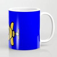 yellow submarine Mugs featuring Yellow Submarine by Caroline Blicq