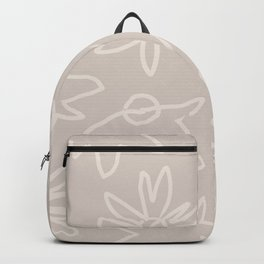Neutral Spring - Outline Flowers Backpack