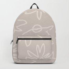 Neutral Spring - Outline Flowers Backpack