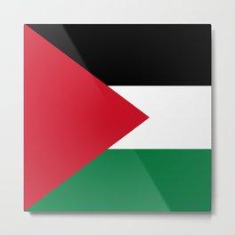 Flag of Palestine Metal Print