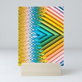 Sun Shard IV. Abstract Colorful 3d Chevron Mini Art Print