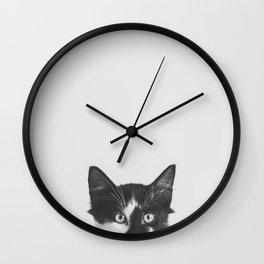 Spies : Cat Black & White Wall Clock