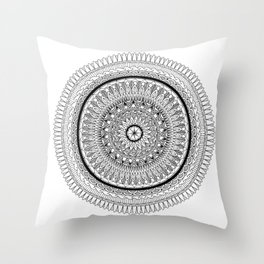 Synergy Mandala Throw Pillow