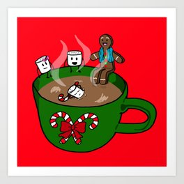 Relaxing Hot Cocoa Art Print