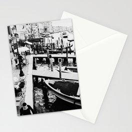Venice, Italy, Film Photo, Analog, Black and White Stationery Cards
