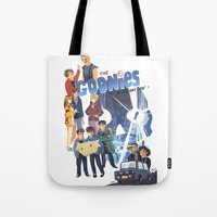 "goonies Tote Bags featuring The Goonies never say ""die"" ! by Collectif PinUp!"