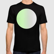 Green Nature Ombre Mens Fitted Tee Black MEDIUM