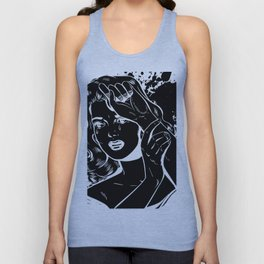 Crying Comic Book Damsel in Distress Unisex Tank Top