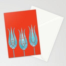 Turkish Tulips ethic design Stationery Cards