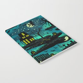 Halloween Night - Fox Fire Green Notebook