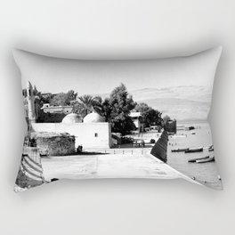 The lakefront at Galilee. Tiberias. 1945 Rectangular Pillow