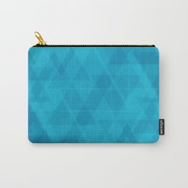 Gentle light blue triangles in the intersection and overlay. Carry-All Pouch