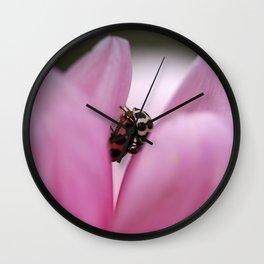 Pink Petal Love Wall Clock