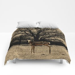 Rustic Deer Tree Modern Country Cottage Chic Farmhouse Art A587 Comforters