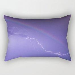 Rainbow Lightning Rectangular Pillow
