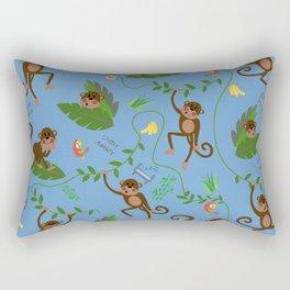 jumping cheeky monkeys blue 04 Rectangular Pillow