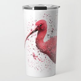 Red Ibis Portrait Travel Mug