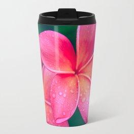 Aloha Hawaii Kalama O Nei Pink Tropical Plumeria Travel Mug