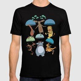 Parachuting Animal Collection T-shirt
