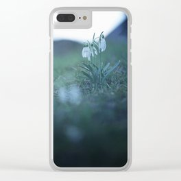 Fragility on a Hill. Clear iPhone Case