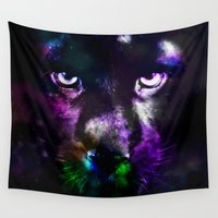 panther Wall Tapestries featuring Panther by haroulita