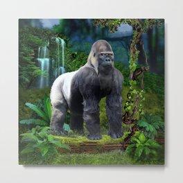 Silverback Gorilla Guardian of the Rainforest Metal Print