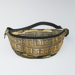 Tibetan Prayer Wheel Nepal Temple Fanny Pack
