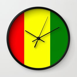 Flag of Guinea Wall Clock