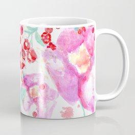 Summer watercolor flowers hot pink blossom Coffee Mug