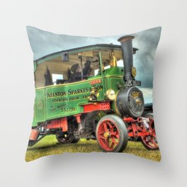 Foden Steam Wagon Throw Pillow