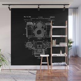 Vintage Camera Patent Black Blueprint Wall Mural