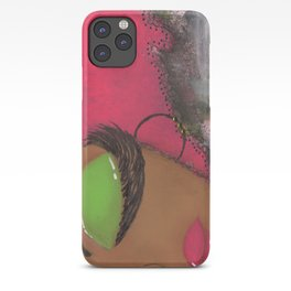 Pink and Green Sassy Girl iPhone Case